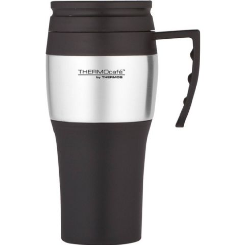 Black Thermos Thermocafe Car Travel Cup Mug with Handle